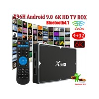Смарт TV BOX X96H , 4GB + 32GB , ANDROID 9.0, 4K HDR/3D  WiFi, RK3318
