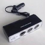 Разклонител за запалка на автомобил 1:3 + USB