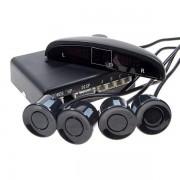 Парктроник с 4 сензора, дисплей и звук черен цвят