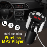 FM трансмитер, 2 x USB, Bluetooth, Hands Free, CAR MP3 player X10