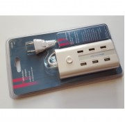 Мултифункционално USB зарядно устройство за телефони, тaблети и др. устройства 6 в 1